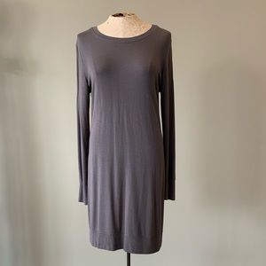 Athleta Gray Sweater Short Casual Dress